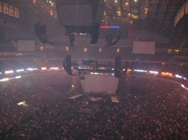 American Airlines Center configured for Maroon 5